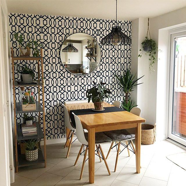 12 Amazing Dining Rooms With Wallpaper