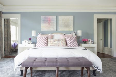 Relaxing Purple And Blue Bedroom