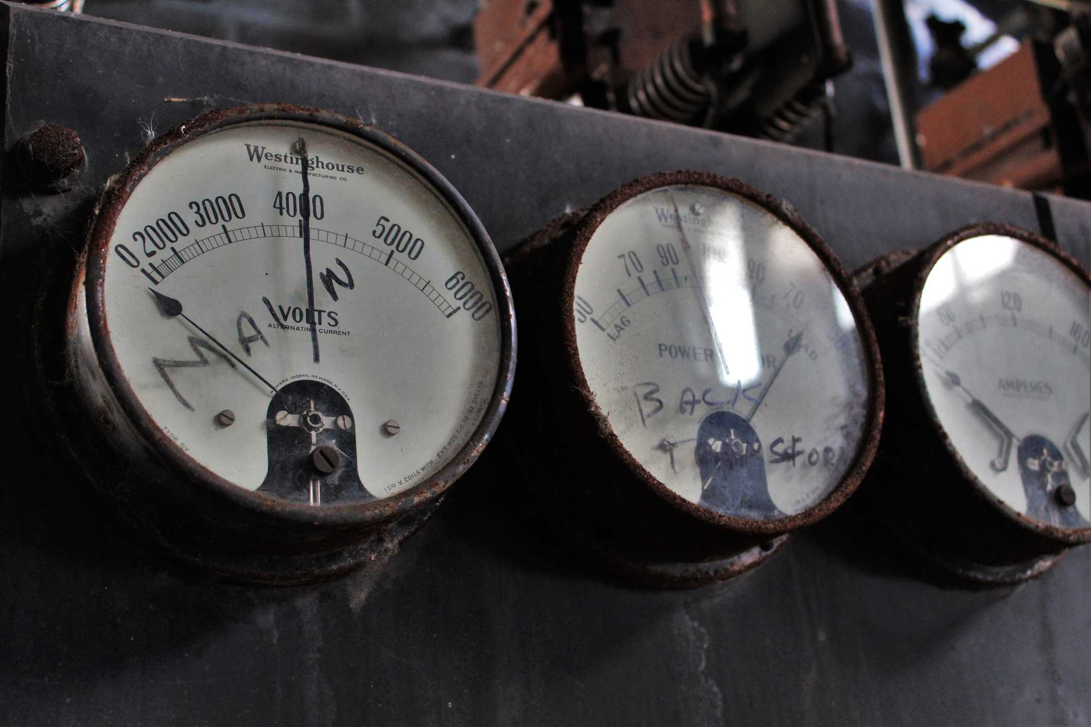 Gauges in electrical plant