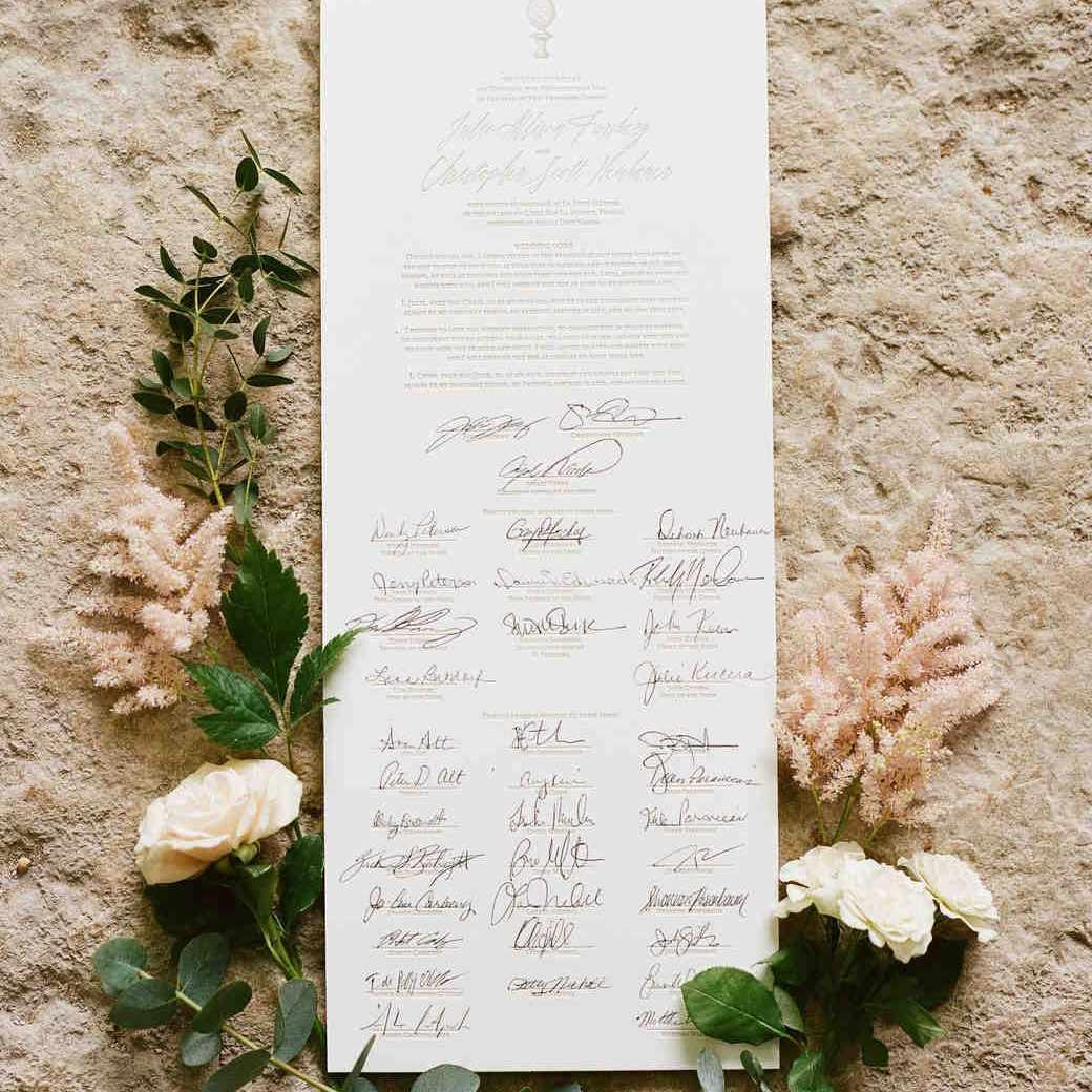 Quaker Scroll Wedding Guest Book