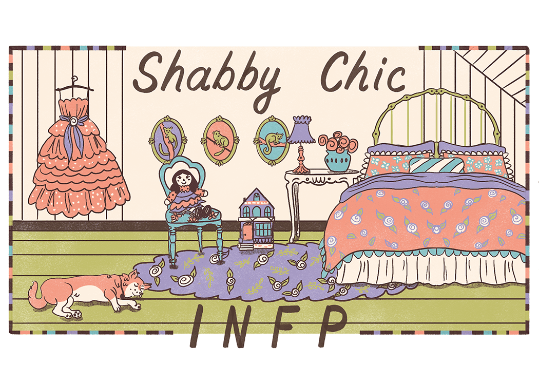 An illustration of the ideal home for an INFP