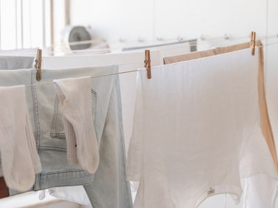 line-dried laundry