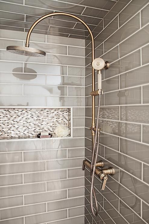 48 Beautiful Bathrooms With Subway Tile Stunning Bathroom Shower Tile Designs Photos