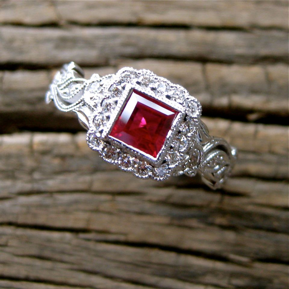 Ruby as an engagement ring alternative