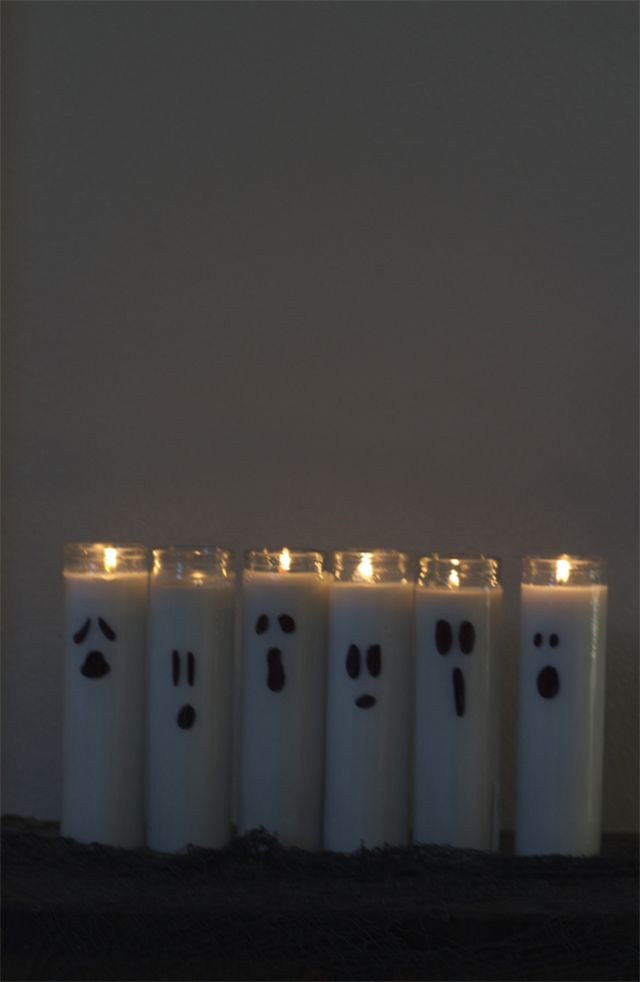 White ghost candles