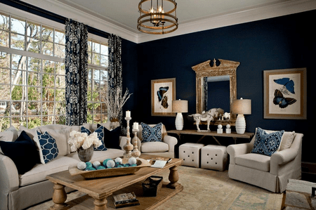 Living Room Decor Blue