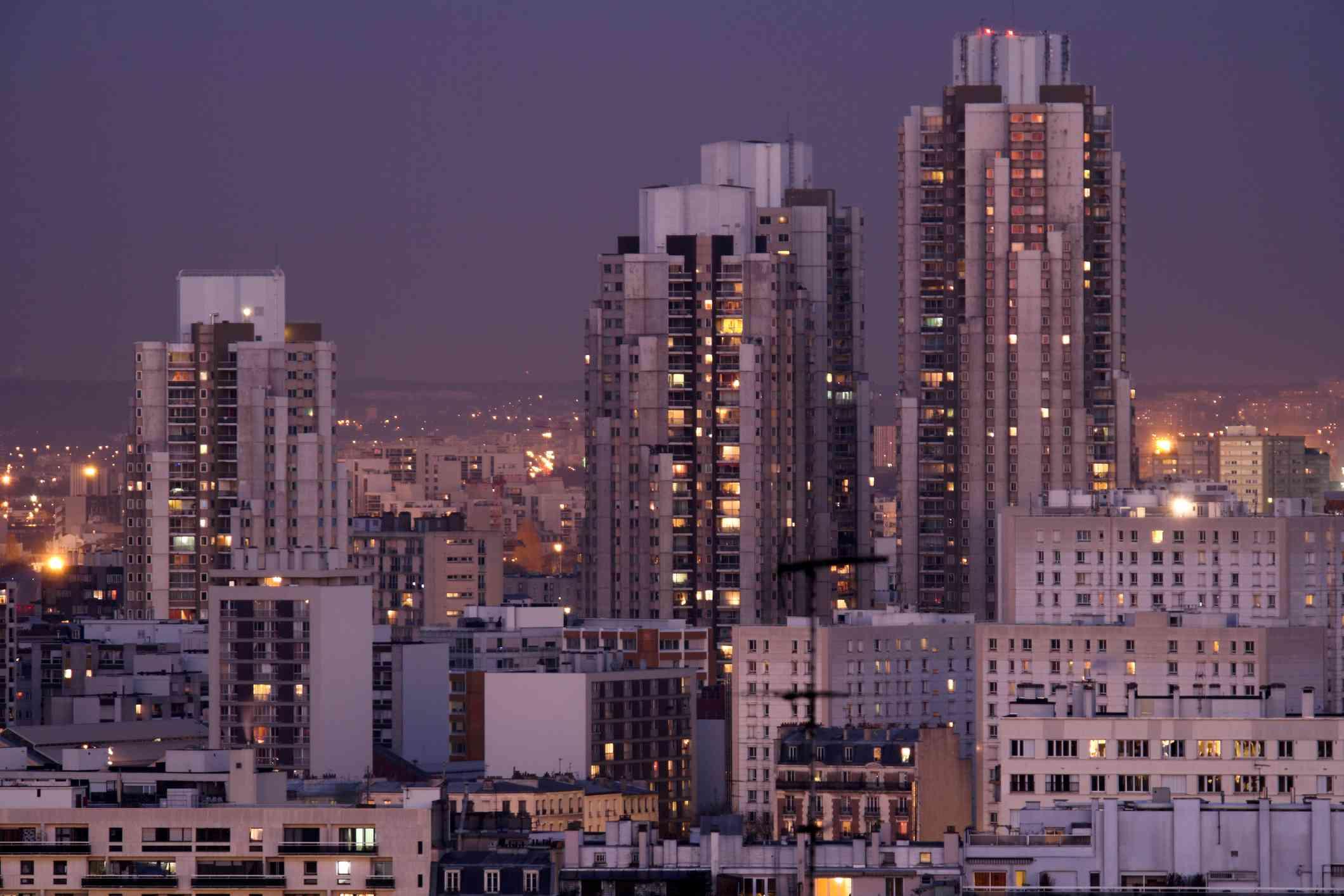 Les Orgues de Flandre social housing tower block towers in Paris