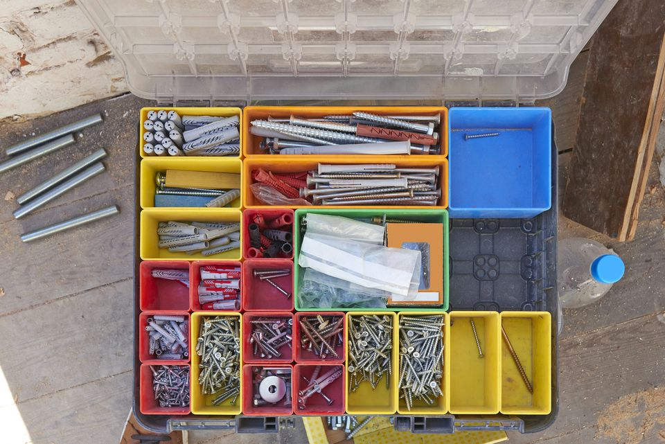 Screws toolbox case from above
