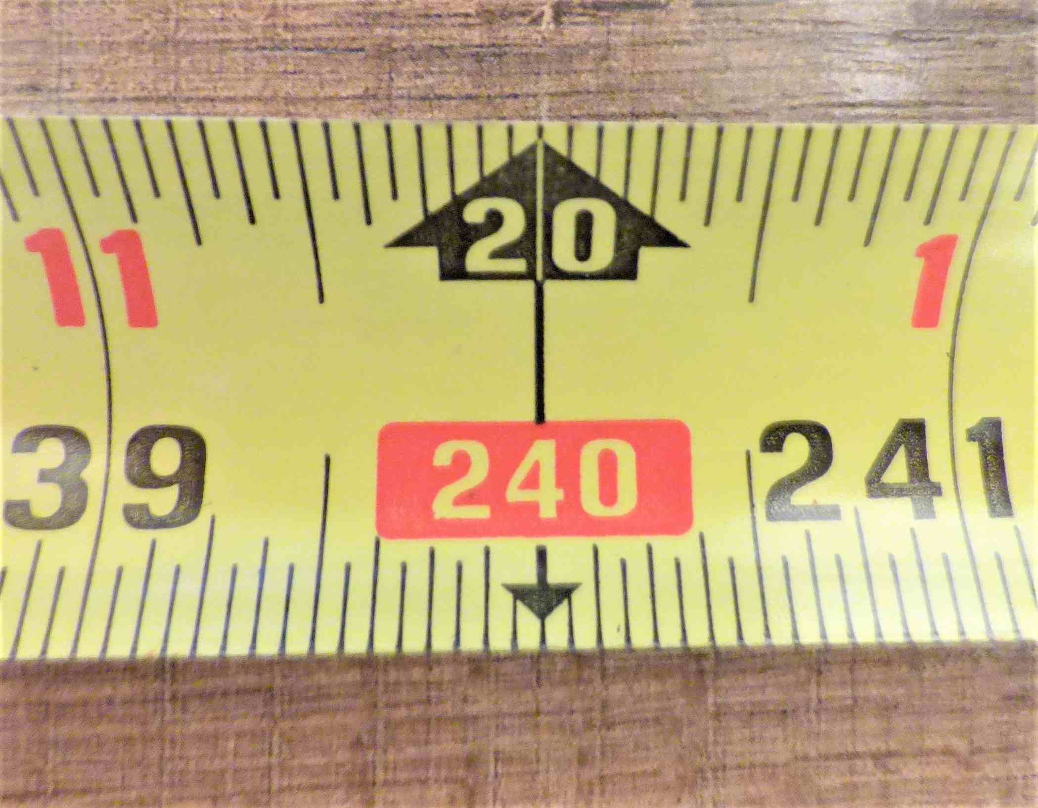 Tape Measure One Inch Mark