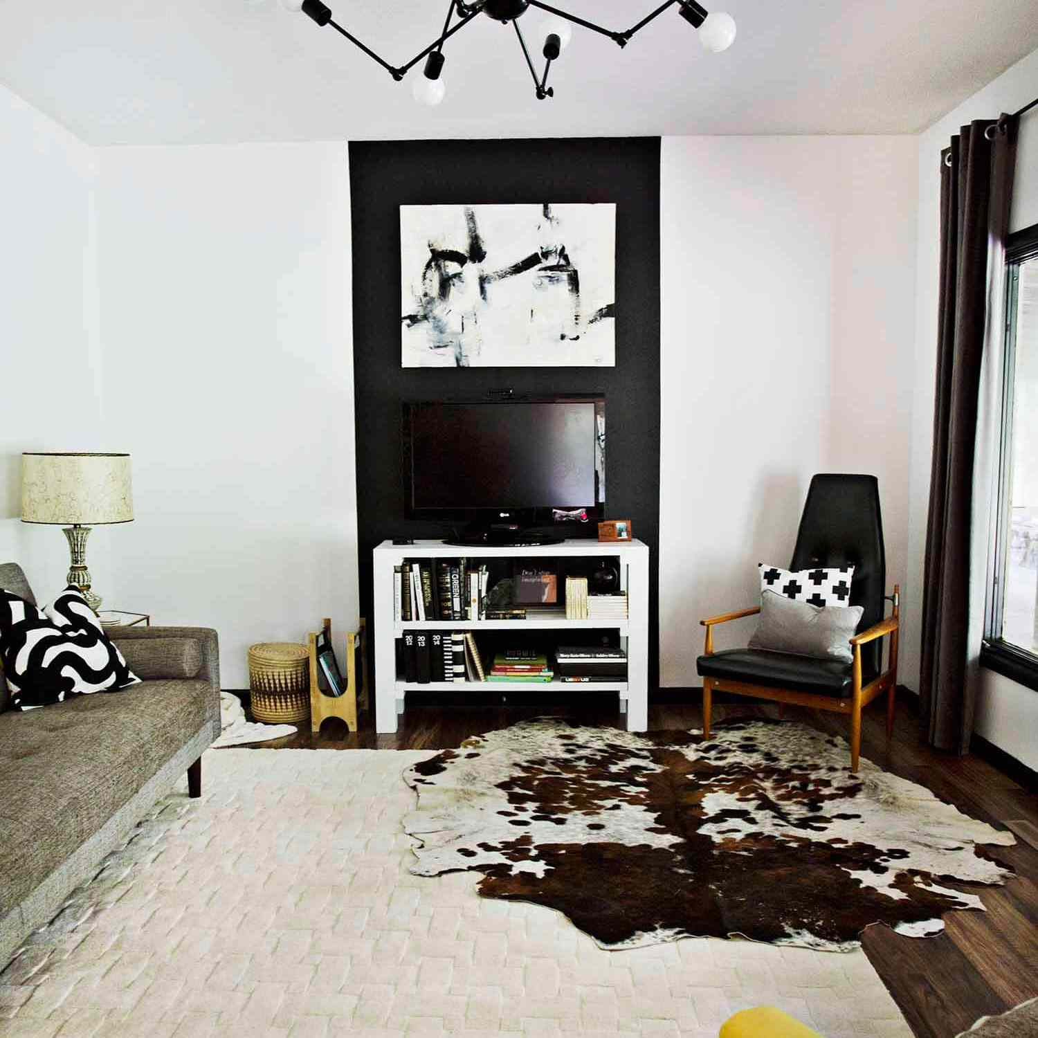 How to decorate around a wall mounted TV