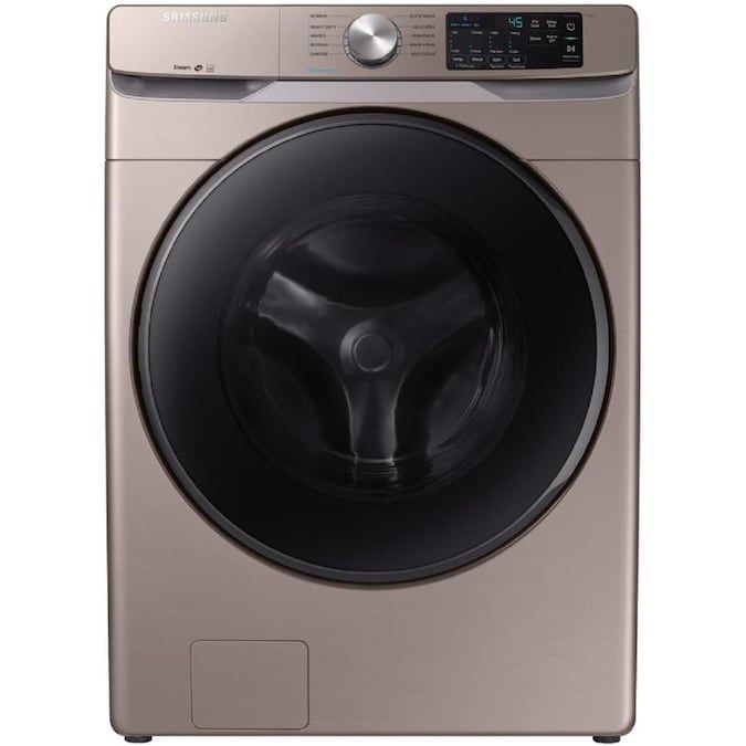 The Samsung WF45R6100AC 4.5 cu. ft. High-Efficiency Front Load Washing Machine is a budget-friendly option.