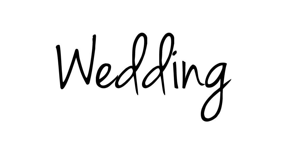 La palabra boda en la fuente gratuita JennaSue