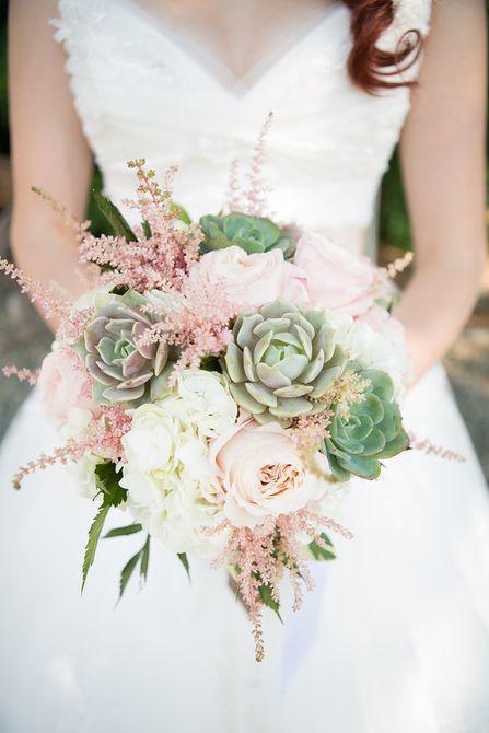 Bouquet de bodas de verano suculento