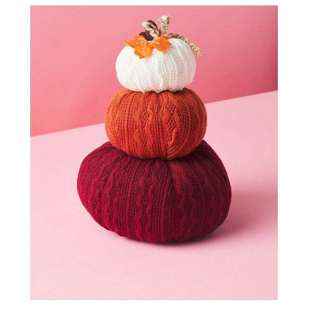 Stacked Plush Pumpkins