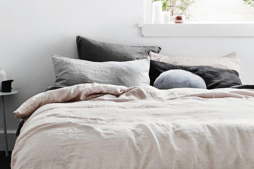 Scandi style linen bedsheets