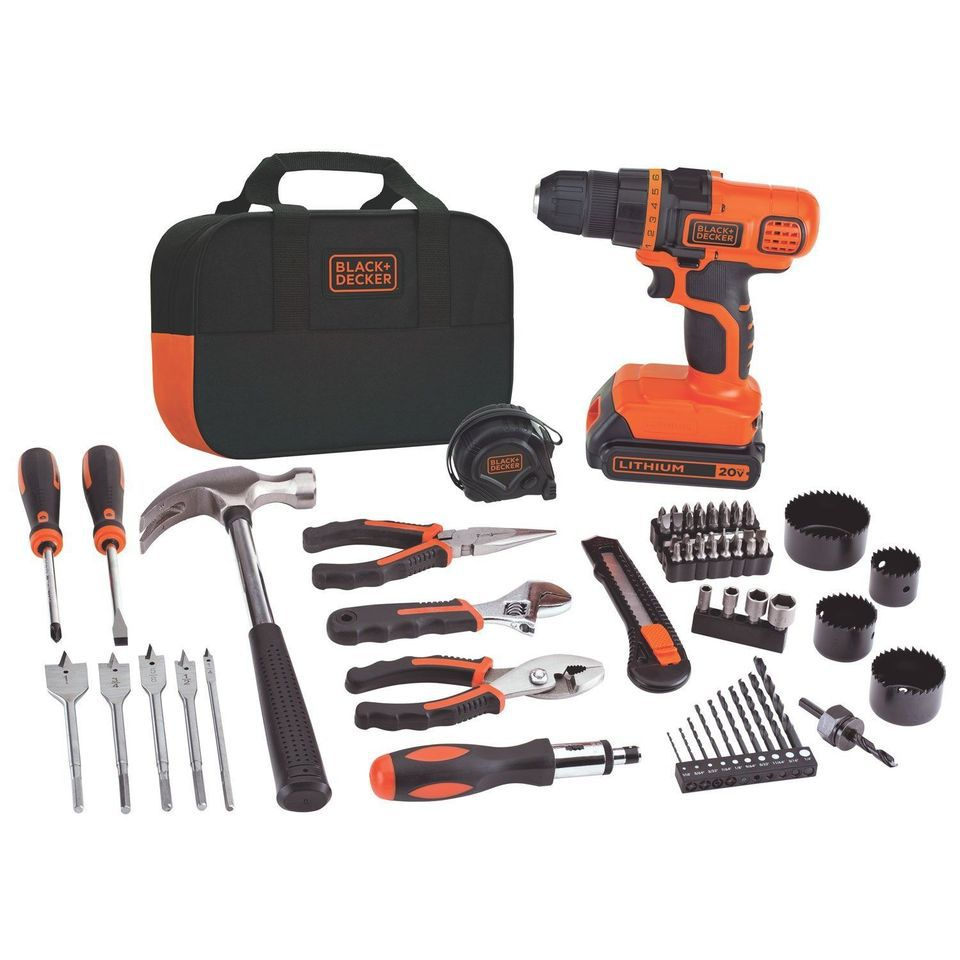 Best For New Homeowners Black And Decker 20 Volt Lithium Ion Drill Kit