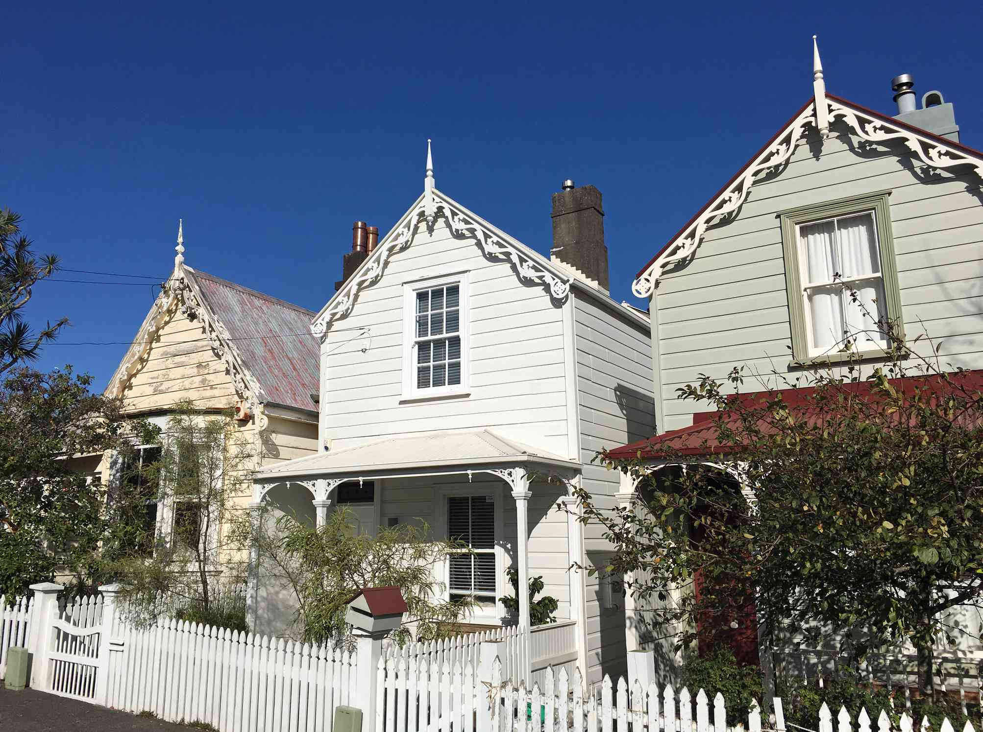 Victorian houses in Auckland New Zealand.