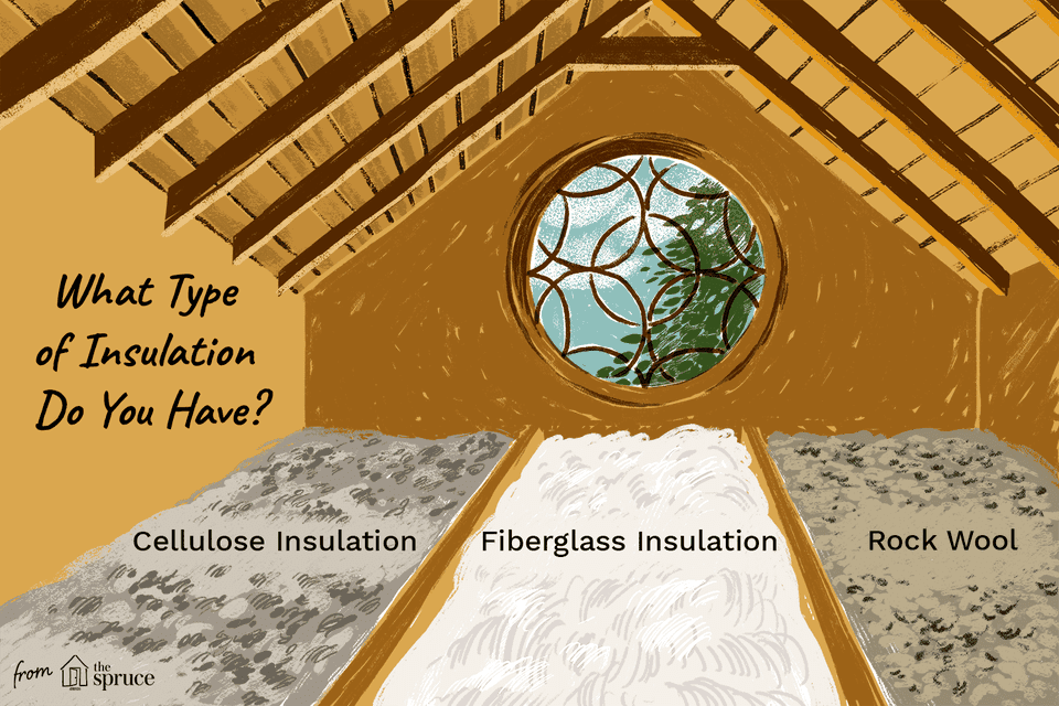 illustration of attic insulation types