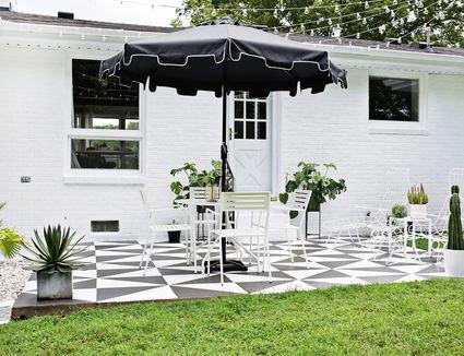 Painted concrete patios