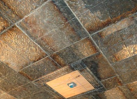 Metal And Faux Ceiling Tiles Instant Traditional Look