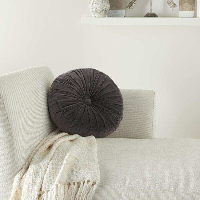 Imani Round Cotton Pillow Cover & Insert