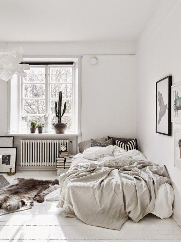 All-white room