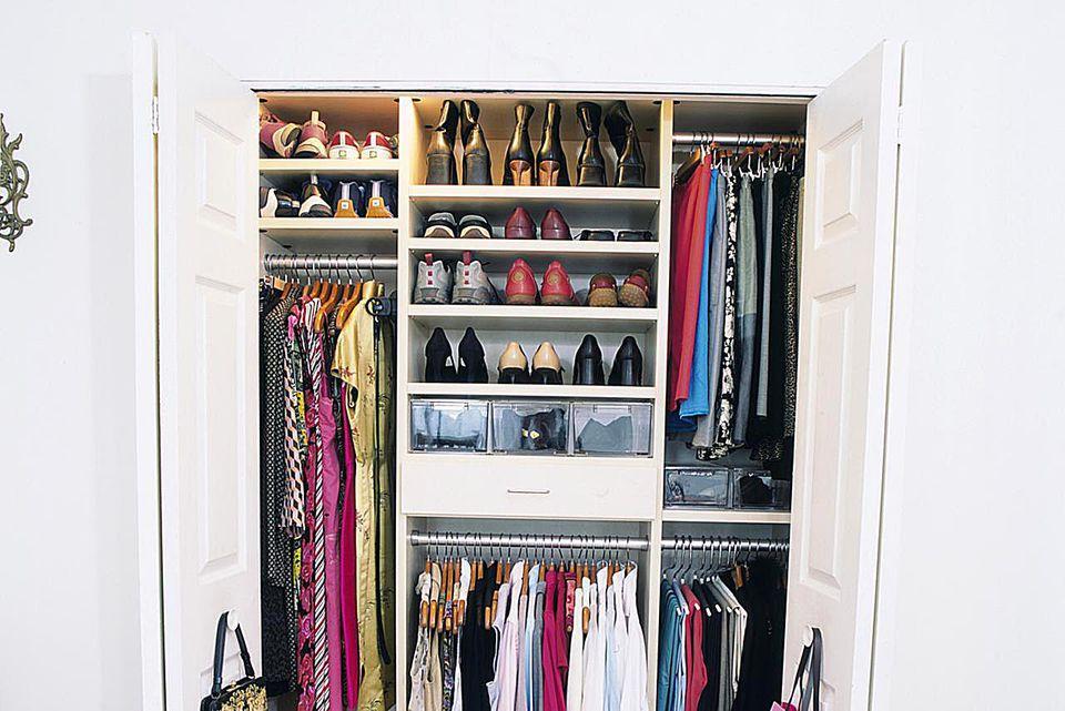 Organizing a closet