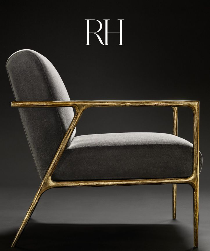 A gold and gray chair