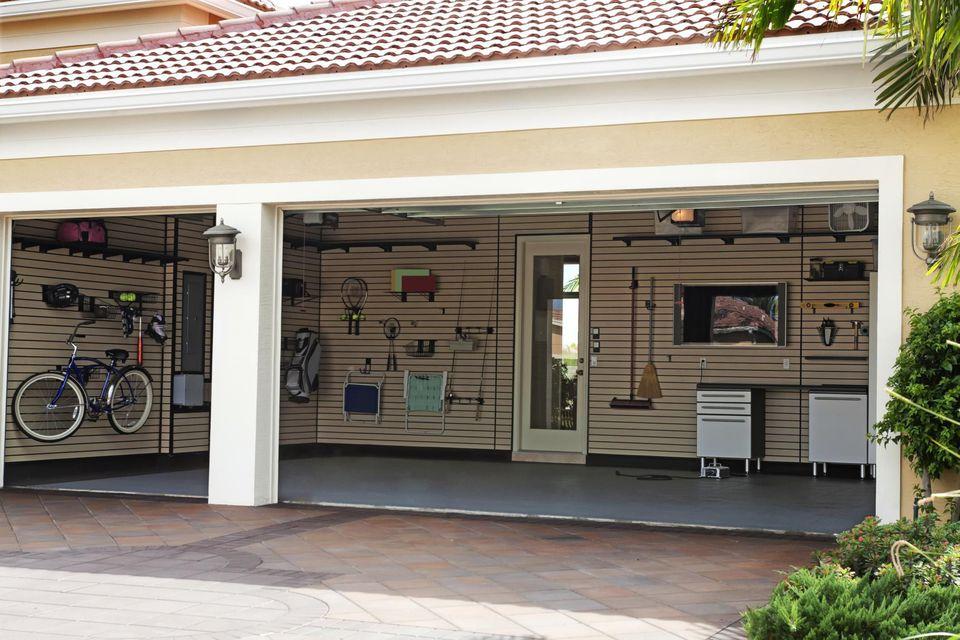 A well-organized garage