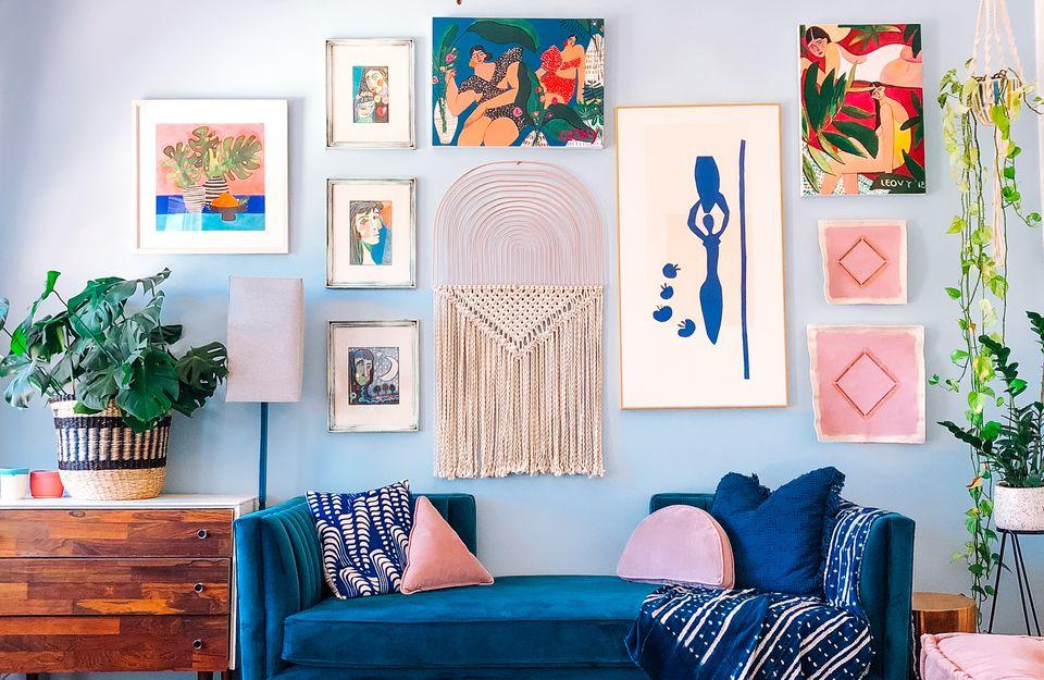 maximalist gallery wall