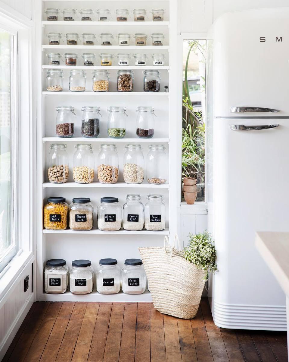 Kitchen Pantry Cabinet Storage White Organizer Shelves Shelf Unit Cabinets Wood