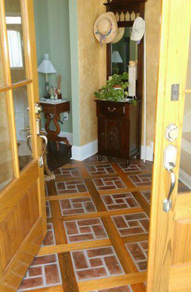 Brick kitchen flooring pavers