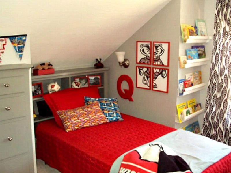 Dormitorio de ático remodelado de Quinn