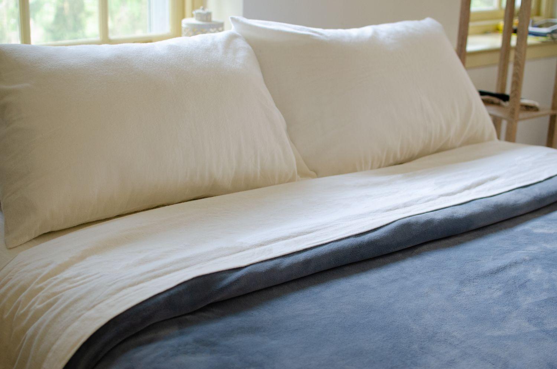 Mellanni 100 Cotton 4 Piece Flannel Sheets Set