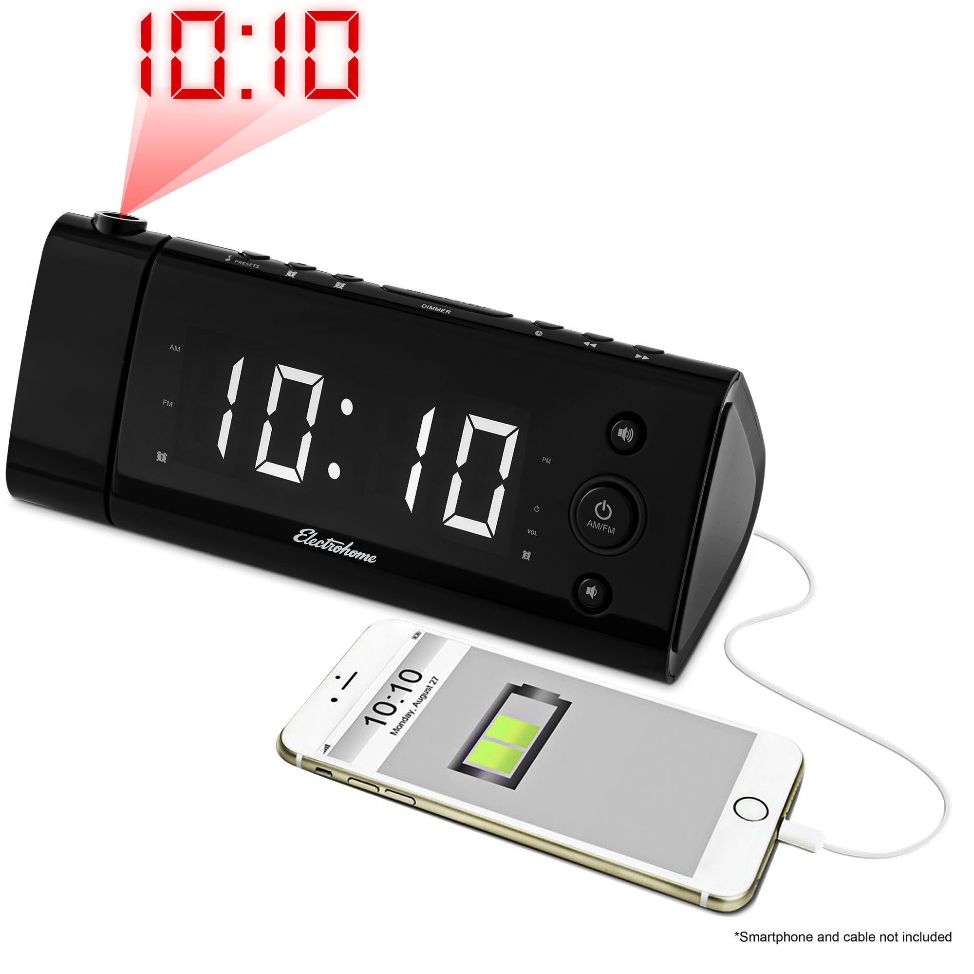 Best Charging Clock Electrohome Usb Alarm Radio