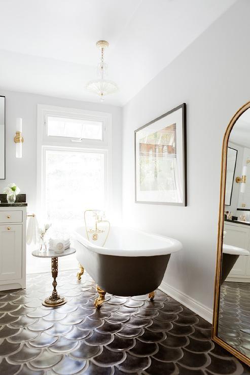 glamorous gold clawfoot tub
