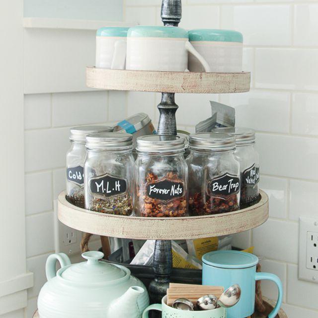 DIY organized tea caddy