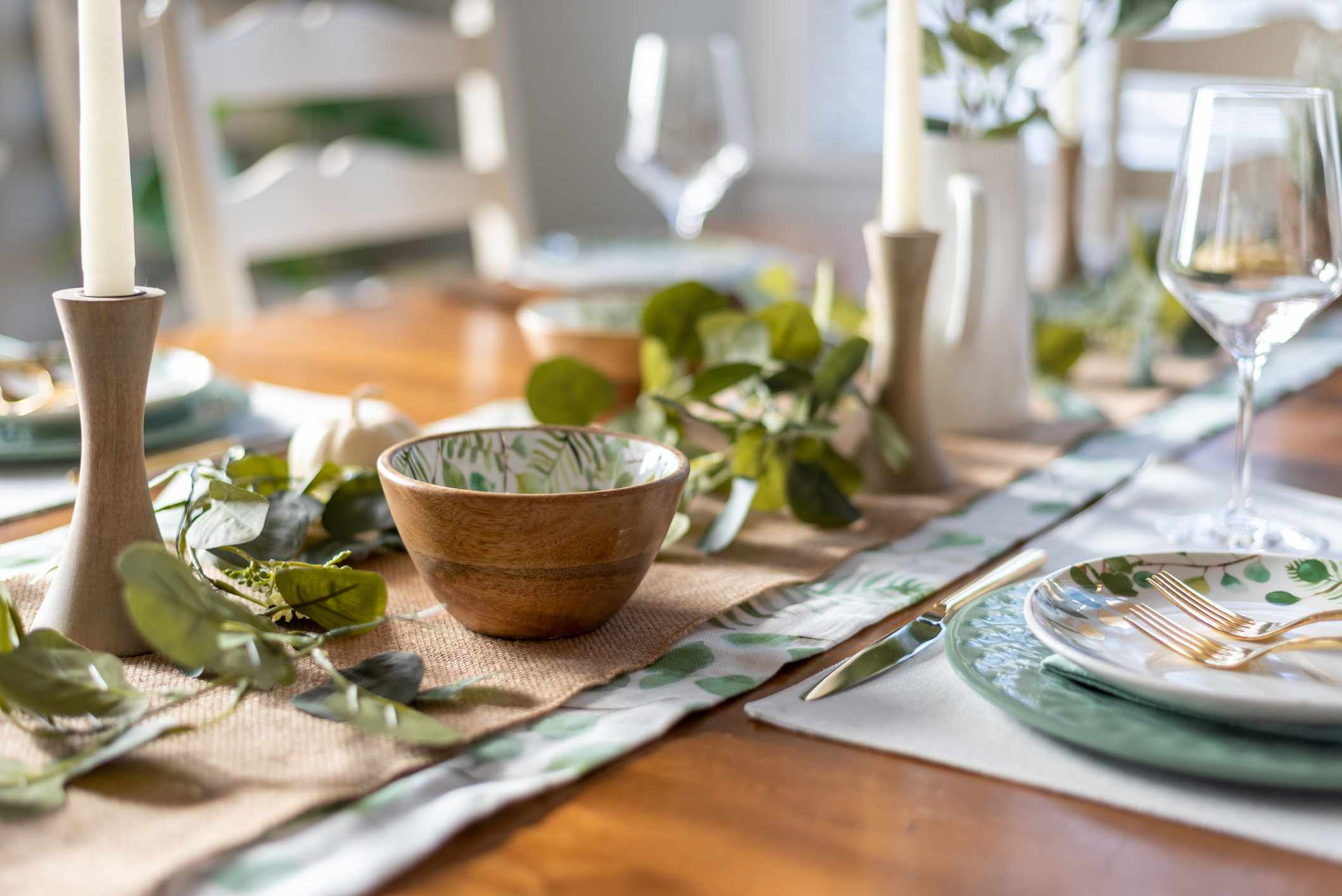 A table set for a dinner party
