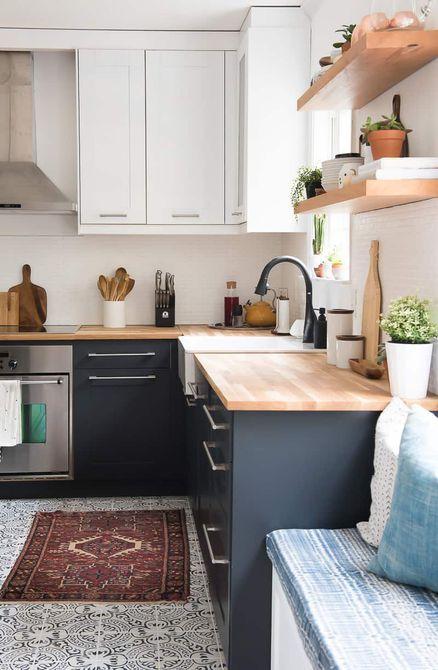 Gabinetes de cocina de dos tonos