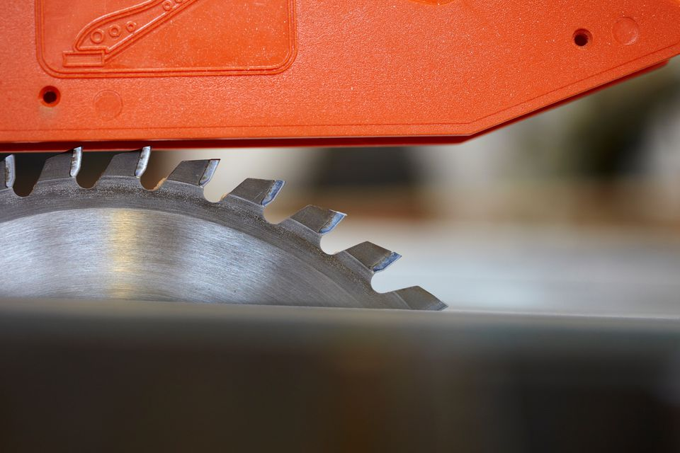 Close up detail of circular saw
