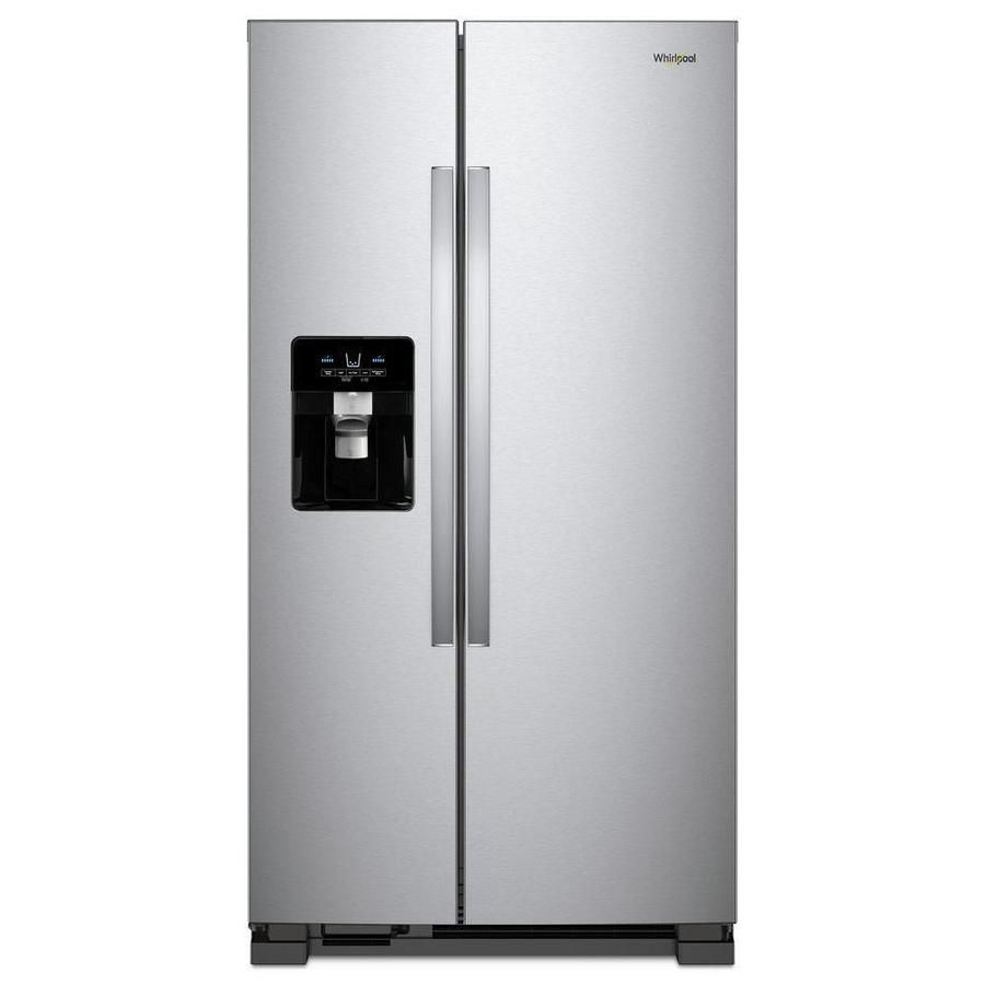 https://www.lowes.com/pd/Whirlpool-21-4-cu-ft-Side-by-Side-Refrigerator-with-Ice-Maker-Fingerprint-Resistant-Stainless-Steel/1000332339
