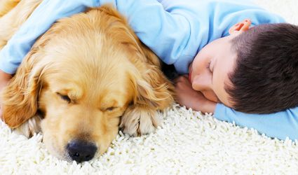 Boy on Carpeting