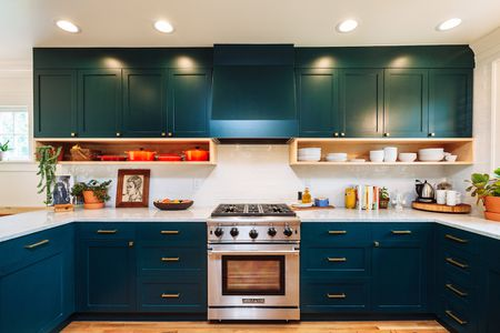 Teal Kitchen Cabinets That Change Color With Light