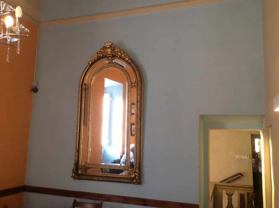 A decorative mirror