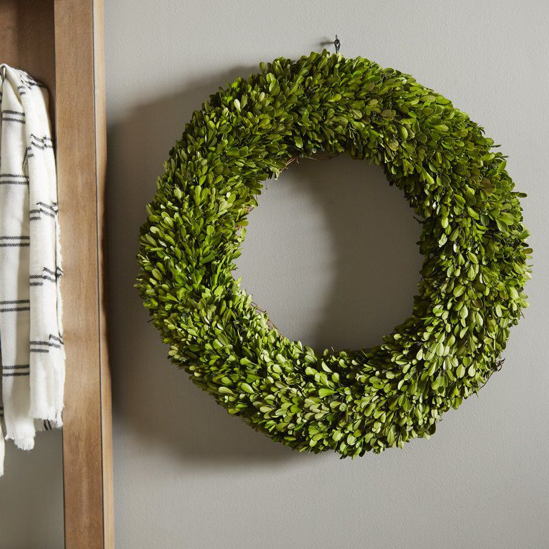 Laurel Foundry Modern Farmhouse Preserved Boxwoods Preserved Wreath