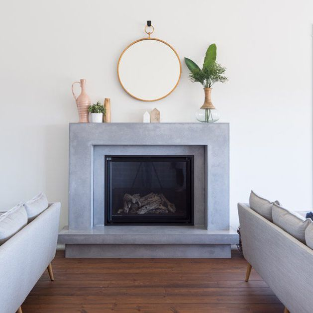 18 Stunning Stone Fireplaces For Every, Granite Fireplace Surround Modern
