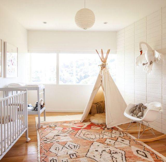 Modern nursery with Southwestern vibe