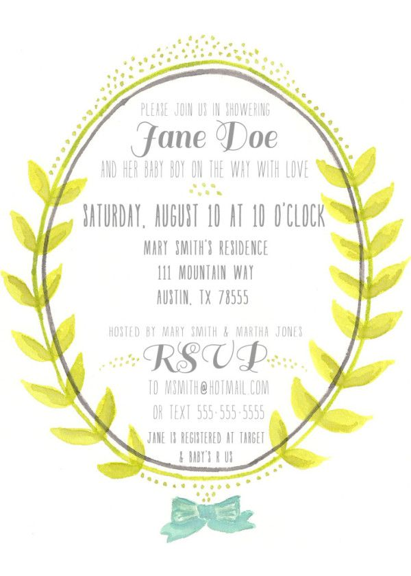 25 Adorable Free Printable Baby Shower Invitations