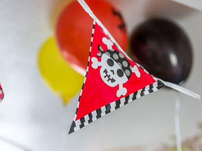 Indoor boys pirate birthday festive banner decoration
