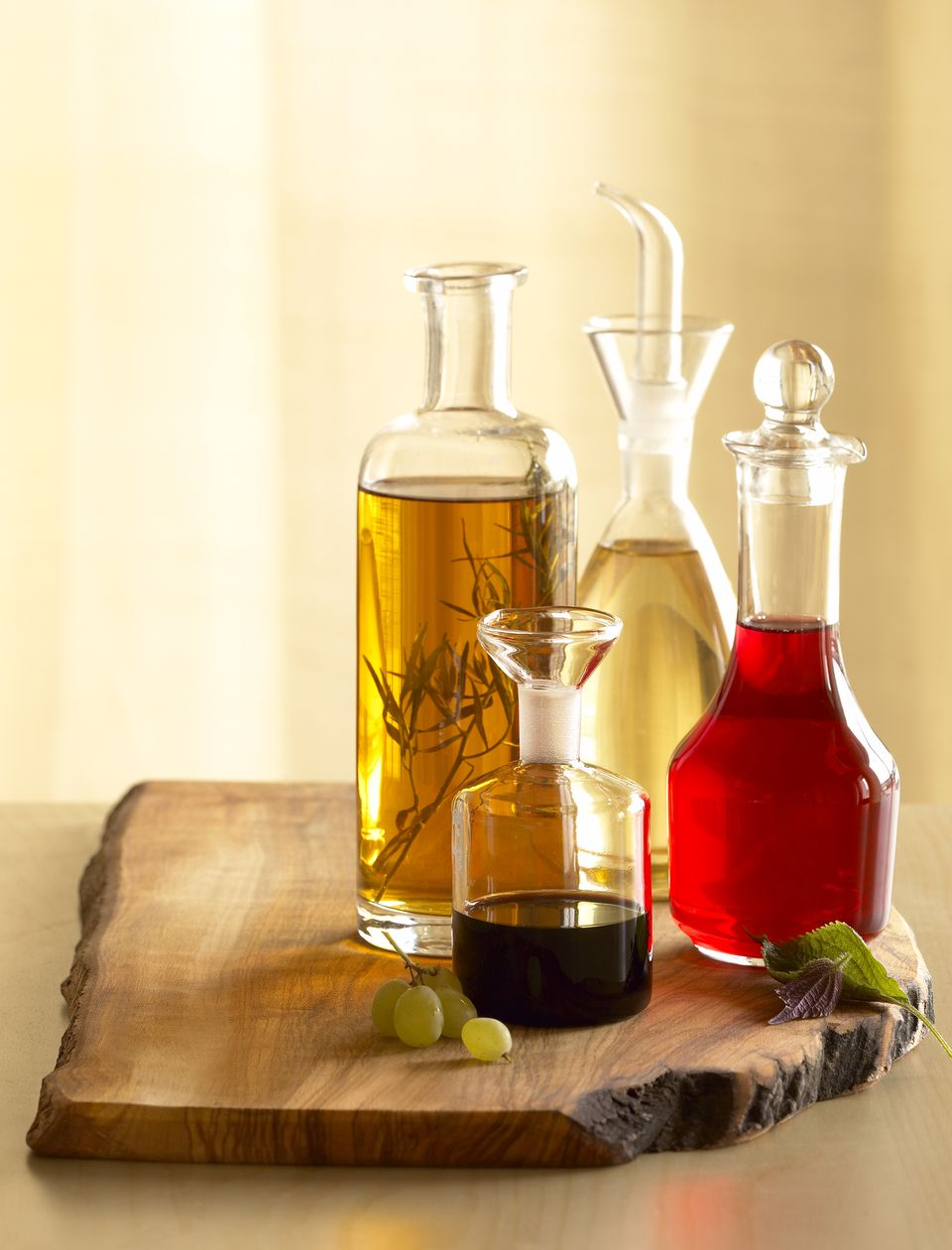 Assorted vinegar bottles